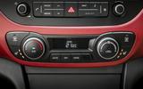 Hyundai i10 climate controls