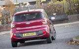 Hyundai i10 rear cornering