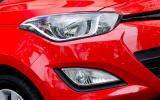 Hyundai i20 headlight and foglight