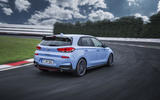Hyundai i30N rear cornering