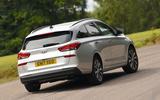 Hyundai i30 rear cornering