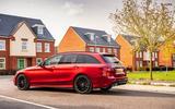 Mercedes-Benz C300e 2020 UK first drive review - hero rear