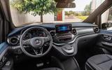 Mercedes Benz EQV 2021 LHD first drive review dashboard
