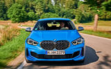 BMW 1 Series M135i 2019 first drive review - otr nose