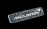 The badge of the McLaren Speedtail