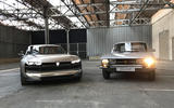 The Peugeot e-Legend and the 504 coupe