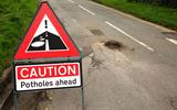 Pothole warning