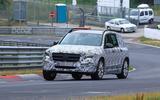 Mercedes GLB Nurburgring spies front side