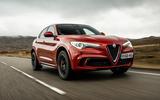 Alfa Romeo Stelvio Quadrifoglio 2018 UK RHD first drive - hero front