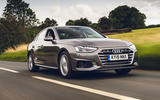 Audi A4 35 TFSI 2019 UK first drive review - tracking front