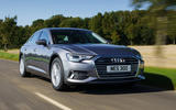1 Audi A6 TFSIe 2021 UK first drive review hero front