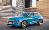 Audi E-tron 2019 official reveal action front