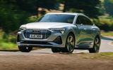 Audi E-tron Sportback 55 2020 UK first drive review - hero front