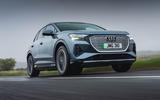 1 Audi Q4 etron 2021 UK FD hero front