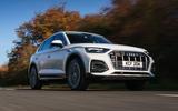 Audi Q5 40 TDI Sport 2020 UK first drive review - hero front