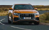 1 Audi Q8 TFSI e 2021 uk FD hero front