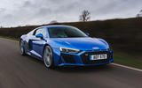 Audi R8 RWD 2020 UK first drive review - tracking front