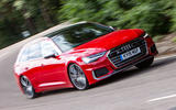 Audi S6 Avant TDI 2019 UK first drive review - hero front
