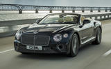 Bentley Continental GT Convertible 2019 UK first drive review - hero front