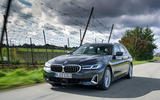 BMW 5 Series 2020 UK (LHD) first drive review - hero front