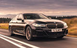 1 bmw 5 series m550i 2020 uk first drive hero front
