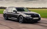 1 BMW 5 Series Touring 530d 2021 UK FD hero front