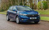 1 Dacia Sandero BiFuel 2021 UK first drive hero front