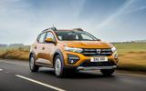 1 Dacia Sandero Stepway 2021 UK first drive review hero front