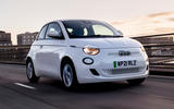 1 Fiat 500e Action 2021 UK FD hero front