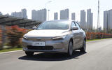 Geely Geometry A 2019 prototype drive - hero front