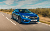 Honda Civic saloon 2018 UK first drive review hero front