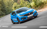 Honda Civic Type R 2020 UK first drive review - hero front