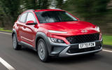 1 hyundai kona 1.6 hybrid 2021 uk first drive review hero front