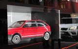 A model of the SEAT Ibiza Mk1 is on display in a celebration of Barcelona design