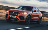 1 Jaguar F Pace SVR 2021 UK first drive review hero front