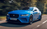 Jaguar XE SV Project 8 Touring 2019 UK first drive review - hero front