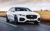 1 Jaguar XF 2021 UK first drive review hero front