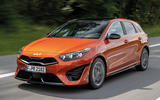 1 Kia Ceed GT Line 2021 facelift first drive tracking front