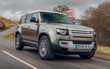 Land Rover Defender 110 2020 UK first drive review - hero front