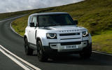 1 Land Rover Defender 90 D250 2021 UK first drive review hero front