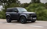 1 Land Rover Defender V8 2021 UK FD hero front