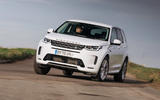 1 Land Rover Discovery P300e 2021 UK FD hero front