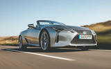 Lexus LC Convertible 2020 UK first drive review - hero front