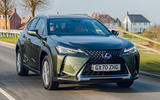 1 Lexus UX300e 2021 UK first drive review hero front