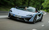 McLaren 570S Spider Track Pack 2018 UK review hero front