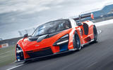 McLaren Senna 2018 UK first drive review track front