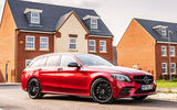 Mercedes-Benz C300e 2020 UK first drive review - hero front
