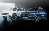 Mercedes-Benz EQB and EQA render - static front