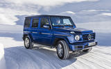 Mercedes-Benz G-Class G350d 2018 first drive review - snow front