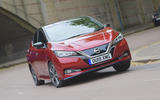 Nissan Leaf 62kWh 2019 UK first drive review - hero front